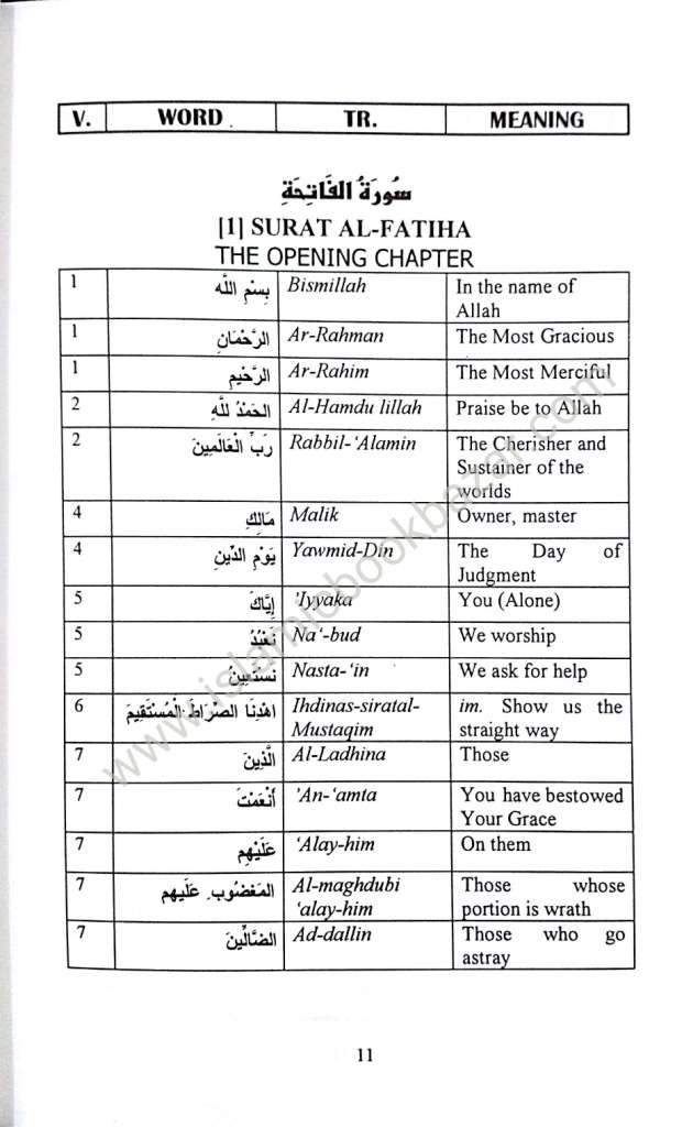 Kalimatul Qur'an (Dictionary of the Quranic Words)