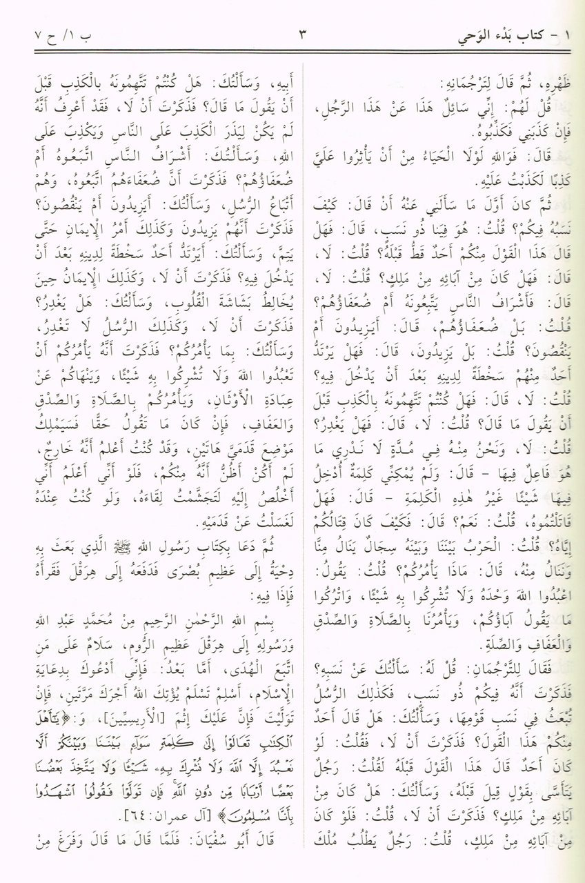 Sahih al bukhari arabic language 7 x 98 inch islamic book bazaar sahih publicscrutiny Image collections
